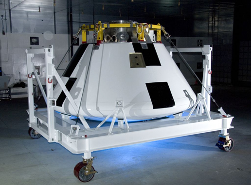 Painted Simulated Orion Crew Module.